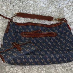Dooney & Bourke denim purse w/ wallet